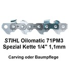 "Carving Sägekette 1/4"" 62 Trgl. 1,1 Nut Stihl Micro auch Baumpflege"
