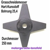 Grasmesser Kunststoff 4-Zahn 250/25,4 grau beige o. rot für Freischeider Motorsense 2 Stck.