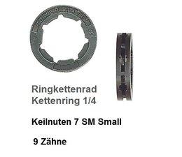 """Carving Kettenrad 1/4"""" Kettenteilung Kettenring 9 Zähne für Ringkettenrad Keilverzahnung SM 7 small 7 Keile"""