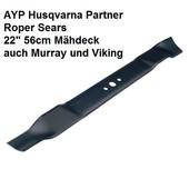 Rasenmähermesser 54cm Mulchmesser Husqvarna AYP Partner  L. 553mm
