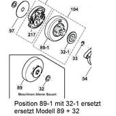 """Kettenrad Makita CS-3410 EA-3500  3501 S 3/8""""H Teilung"""