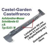 Rasenmähermesser 62cm Mulchkombi Flügelmesser Castel Garden Castelfranko GGP EL63