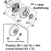 """Kettenrad Dolmar PS 32 , PS 35 , PS 3400 , PS 3410 C,TCL,TH + Makita DCS-3410 EA3500 + 3501 S 3/8""""H Teilung"""