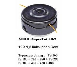 Freischneider Fadenkopf STIHL SuperCut 40-2 Gewinde Motorsense 12 x1,5 Faden 2,4