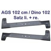 Rasenmähermesser Satz AGS 102 cm Dino Messersatz 1 x links 1 x rechts Rasenmäher