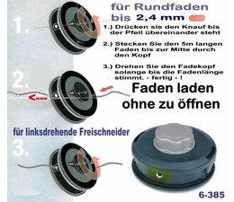 Freischneider Fadenkopf tecomec EASYLOAD Unibefest. auf Messerscheibe Motorsense