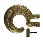 Schlinghaken mit Gabelkopf für 8mm Forstkette G8+  Nordforest gold incl. Bolzen u. Stift für Rückekette