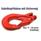 Lasthaken + Sicherung u. Gabelkopf G8 für 7 o. 8mm Forstkette oder Lastkette