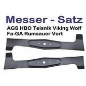 Rasenmähermesser 102cm Windflügelmesser Satz AGSAgrojet SJ 102/16H 102 18H 102/22 H VikingMT640 MT680