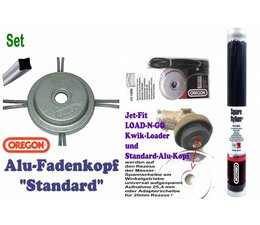 Freischneider Alu- Mähkopf Oregon Standard + 100 Square-Faden 2.55mm für Motorsense
