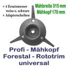 Freischneider Mähkopf Rototrim Profi 3 bewegliche Messer + 3 Ersatz-Messer Motorsense