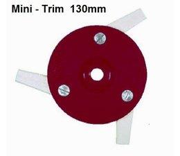 Freischneider Mähkopf Mini-Trim 3 bewegl. Messer 55mm 130 mm Kopf für Motorsense