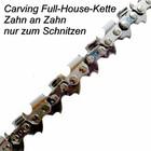 """Carving Sägekette Full-House 1/4"""" 60 Trgl. 1,3 Nut für 25cm Führungsschiene"""