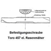 "Rasenmähermesser 43cm Toro Modell 457 Recycler elektrisch 425mm 17"""