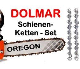 Schwert 50cm 2 Ketten 3/8 Dolmar Kettensäge PS 630 6400 6800 7300 7310 7900 7910