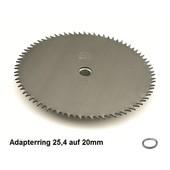 Rodungssägeblatt 250 x 20 x 2,0 HD mit 80 Zähnen Freischneider CV - Sägeblatt für Rodung mit der Motorsense