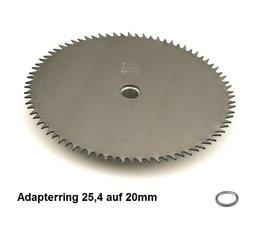 Freischneider Rodungssägeblatt 250 x 20 x 2,0 HD mit 80 Zähnen CV - Sägeblatt für Rodung mit der Motorsense