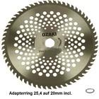 Rodungssägeblatt Hartmetall 40-Zahn 255 20 1.8 Freischneider Rodung Sägeblatt mit Adapterring