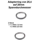Adapterringe Reduzierringe für Sägeblätter und Freischneidermesser von 25,4 auf 20mm Spannlochdurchmesser