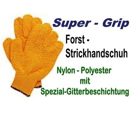 Forsthandschuh Gr. S Criss-Cross Strickhandschuh rutschsicher Polyester beschichtet 3 - Paar