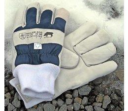 Keiler ECO Winter Gr. 10,5 Forsthandschuh dickes Acryl-Futter weiches Leder + Schirmseide CATII gegen große Kälte