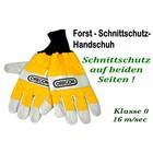 Schnittschutzhandschuh Gr.9 -M- mit Schnittschutz links + rechts Forsthandschuh für Kettensäge Kl.1