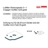 Luftfilter Filterset 5+1 Dolmar Makita Trennschleifer Motortrennschleifer
