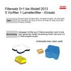 Luftfilter Filterset 5+1 Dolmar Makita Trennschleifer Motortrennschleifer bis 2013