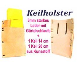 Forst Holster Keilholster Keiltasche mit Forstkeilen Oregon 1 x Fällkeil 1 x Schnittkeil für Motorsäge