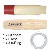 Forstkeil Alu Spaltkeil Holzeinsatz hart und weich mit Ersatzring für Hohlspaltkeil Fällkeil Forstkeil