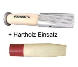 Forstkeil Alu Spaltkeil Hohlspaltkeil Nordforest mit Holzeinsatz und Hartholzeinsatz zum Ersatz Gesamt Gr. 360 x 72mm