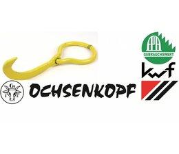 Forst  Wendehaken - Hebehaken Ochsenkopf Chrom-Vanadium für Forstkette Rückekette Seilwinde