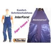 Schnittschutzhose Latzhose Gr. 58 Oleo-Mac Komfort Schnittschutz - A - vorn Klasse 1 blau Interforst