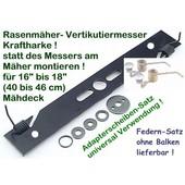 Vertikutiermesser Kraftharke für 41-46 cm Rasenmäher Vertikutierbalken univ. Verwendung bei Mittelzentrierung + Ersatzfedern