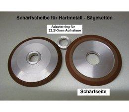 Diamantscheibe silizium-korund mit Adapter für 22,2mm Bohrung Schärfscheibe für Stihl Duro Hartmetall Sägekette
