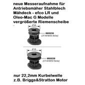 Rasenmähermesser Messerhalter Messeraufnahme efco Oleo-Mac Dynamac Victus Emak diverse Modelle handgeführt mit Antrieb