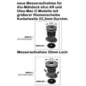 Rasenmähermesser Messerhalter Messeraufnahme efco Oleo-Mac Victus Emak diverse Alu-Modelle handgeführt mit Antrieb