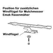 Rasenmähermesser Windflügel Emak efco Oleo-Mac Victus Dynamac für Mulchmesser