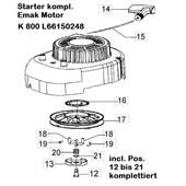 Starter komplett Emak Motoren K800 Rasenmäher efco  Oleo-Mac Victus Dynamac