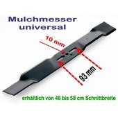 Rasenmähermesser Mulchmesser L. 45 / 46 cm universal bei Rasenmäher mit 10mm Messerzentrierung
