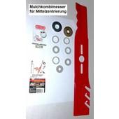 Oregon Rasenmähermesser 40 cm Mulchmesser universal bei Anwendbarkeit der Pass-Scheiben + kl. MTD Stern
