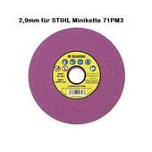 """Schleifscheibe 145 x 22,3 x 2,9 rosa weich für 1/4"""" 71PM3 Stihl Mini Sägeketten mit 1,1 mm Treibgliedern"""