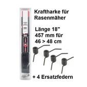 """Vertikutiermesser Kraftharke 18"""" für 46 > 48cm Schnittbr. + 4 Ersatzfedern auch MTD Rasenmäher"""