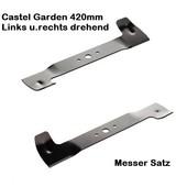 Rasenmähermesser 84cm  Windflügelmesser Satz Castel Garden Twin-Cut links- u. rechtsdrehend