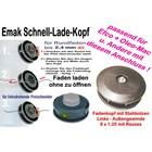 Fadenkopf Dynamac emak DB 26 30 40 41 42 L 8x1,25 Li. Bolzen / Außengewinde Motorsense  Freischneider  Quick-Load
