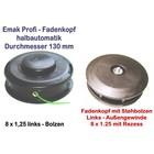 Fadenkopf Dynamac emak DB 30 40 41 42 L 8x1,25 Li. Bolzen / Außengewinde Motorsense / Freischneider