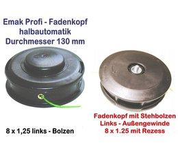 Freischneider Fadenkopf Dynamac emak DB 30 40 41 42 L 8x1,25 Li. Bolzen / Außengewinde Motorsense