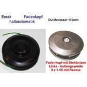 Fadenkopf Dynamac emak DB 22 26 30 40 41 42 L 8x1,25 Li. Bolzen / Außengewinde Motorsense Freischneider 110mm