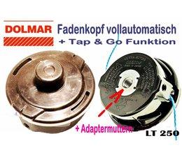 Fadenkopf Dolmar LT 27 + LT 30 + LT 31 + LT 210 + LT 250 Trimmer gebogener Schaft rechtsdrehende Freischneider Automatik
