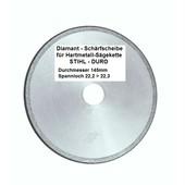 """Schleifscheibe Diamantscheibe Schärfscheibe für Hartmetall- Sägeketten Stihl Duro 3/8"""" Picco + .325"""" 145mm x 3,2mm Bo. 22,2mm R-M"""
